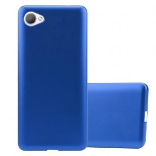Cadorabo Hülle für HTC Desire 12 in METALLIC BLAU - Handyhülle aus flexiblem TPU Silikon - Silikonhülle Schutzhülle Ultra Slim Soft Back Cover Case Bumper