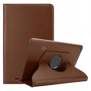 """Cadorabo Tablet Hülle für Huawei MediaPad T3 7 (7, 0"""" Zoll) in PILZ BRAUN Book Style Schutzhülle OHNE Auto Wake Up mit Standfunktion und Gummiband Verschluss"""