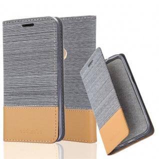 Cadorabo Hülle für WIKO VIEW 2 in HELL GRAU BRAUN Handyhülle mit Magnetverschluss, Standfunktion und Kartenfach Case Cover Schutzhülle Etui Tasche Book Klapp Style