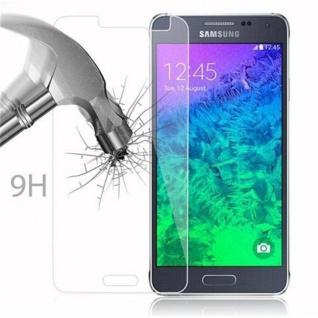 Cadorabo Panzer Folie für Samsung Galaxy ALPHA - Schutzfolie in KRISTALL KLAR - Gehärtetes (Tempered) Display-Schutzglas in 9H Härte mit 3D Touch Kompatibilität - Vorschau 3