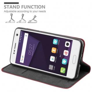 Cadorabo Hülle für ZTE BLADE V8 in APFEL ROT Handyhülle mit Magnetverschluss, Standfunktion und Kartenfach Case Cover Schutzhülle Etui Tasche Book Klapp Style - Vorschau 4