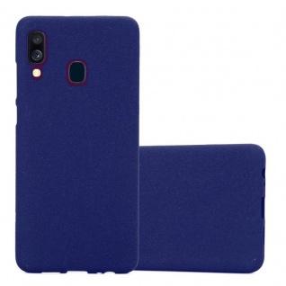 Cadorabo Hülle für Samsung Galaxy A40 in FROST DUNKEL BLAU - Handyhülle aus flexiblem TPU Silikon - Silikonhülle Schutzhülle Ultra Slim Soft Back Cover Case Bumper