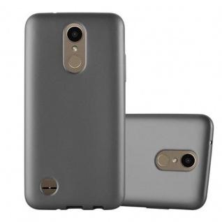 Cadorabo Hülle für LG K10 2017 in METALLIC GRAU - Handyhülle aus flexiblem TPU Silikon - Silikonhülle Schutzhülle Ultra Slim Soft Back Cover Case Bumper