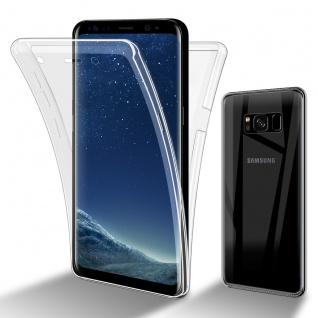 Cadorabo Hülle kompatibel mit Samsung Galaxy S8 in TRANSPARENT - 360° Full Body Handyhülle Front und Rückenschutz Rundumschutz Schutzhülle mit Displayschutz