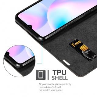 Cadorabo Hülle kompatibel mit Xiaomi Redmi 9A in KAFFEE BRAUN Handyhülle mit Magnetverschluss, Standfunktion und Kartenfach Case Cover Schutzhülle Etui Tasche Book Klapp Style - Vorschau 4