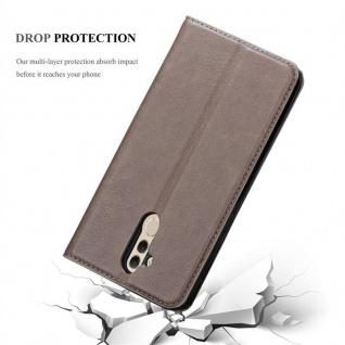 Cadorabo Hülle für Huawei MATE 20 LITE in KAFFEE BRAUN - Handyhülle mit Magnetverschluss, Standfunktion und Kartenfach - Case Cover Schutzhülle Etui Tasche Book Klapp Style - Vorschau 5