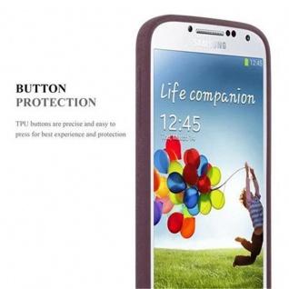 Cadorabo Hülle für Samsung Galaxy S4 in FROST BORDEAUX LILA - Handyhülle aus flexiblem TPU Silikon - Silikonhülle Schutzhülle Ultra Slim Soft Back Cover Case Bumper - Vorschau 3