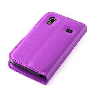 Cadorabo Hülle für Samsung Galaxy ACE 1 in MANGAN VIOLETT - Handyhülle mit Magnetverschluss, Standfunktion und Kartenfach - Case Cover Schutzhülle Etui Tasche Book Klapp Style - Vorschau 4