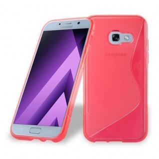 Cadorabo Hülle für Samsung Galaxy A3 2017 in INFERNO ROT - Handyhülle aus flexiblem TPU Silikon - Silikonhülle Schutzhülle Ultra Slim Soft Back Cover Case Bumper