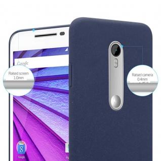 Cadorabo Hülle für Motorola MOTO G3 in FROSTY BLAU - Hardcase Handyhülle aus Plastik gegen Kratzer und Stöße - Schutzhülle Bumper Ultra Slim Back Case Hard Cover - Vorschau 3