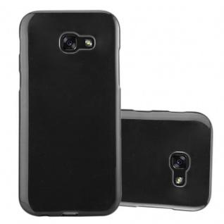 Cadorabo Hülle für Samsung Galaxy A3 2017 in SCHWARZ - Handyhülle aus flexiblem TPU Silikon - Silikonhülle Schutzhülle Ultra Slim Soft Back Cover Case Bumper