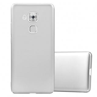 Cadorabo Hülle für Huawei NOVA PLUS in METALL SILBER Hardcase Handyhülle aus Plastik gegen Kratzer und Stöße Schutzhülle Bumper Ultra Slim Back Case Hard Cover
