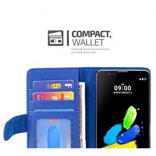 Cadorabo Hülle für LG K8 2016 in NEPTUN BLAU ? Handyhülle mit Magnetverschluss und 3 Kartenfächern ? Case Cover Schutzhülle Etui Tasche Book Klapp Style - Vorschau 5