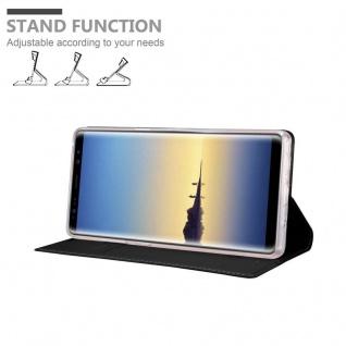 Cadorabo Hülle für Samsung Galaxy NOTE 8 in CLASSY SCHWARZ - Handyhülle mit Magnetverschluss, Standfunktion und Kartenfach - Case Cover Schutzhülle Etui Tasche Book Klapp Style - Vorschau 4