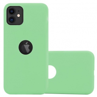 Cadorabo Hülle für Apple iPhone 11 (XI) in CANDY PASTELL GRÜN - Handyhülle aus flexiblem TPU Silikon - Silikonhülle Schutzhülle Ultra Slim Soft Back Cover Case Bumper