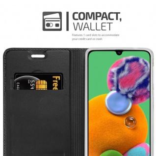 Cadorabo Hülle für Samsung Galaxy A90 5G in CLASSY SCHWARZ - Handyhülle mit Magnetverschluss, Standfunktion und Kartenfach - Case Cover Schutzhülle Etui Tasche Book Klapp Style - Vorschau 3