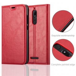 Cadorabo Hülle für WIKO VIEW in APFEL ROT Handyhülle mit Magnetverschluss, Standfunktion und Kartenfach Case Cover Schutzhülle Etui Tasche Book Klapp Style - Vorschau 2