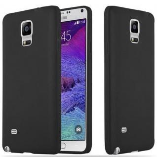 Cadorabo Hülle für Samsung Galaxy NOTE 4 in CANDY SCHWARZ - Handyhülle aus flexiblem TPU Silikon - Silikonhülle Schutzhülle Ultra Slim Soft Back Cover Case Bumper