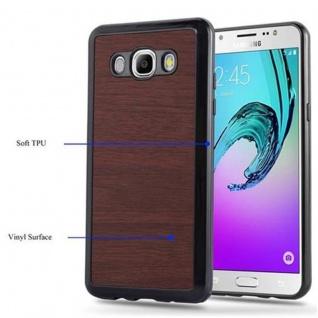 Cadorabo Hülle für Samsung Galaxy J5 2016 in WOODEN KAFFEE - Handyhülle aus flexiblem TPU Silikon - Silikonhülle Schutzhülle Ultra Slim Soft Back Cover Case Bumper - Vorschau 4