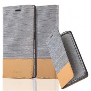 Cadorabo Hülle für Sony Xperia XZ / XZs in HELL GRAU BRAUN - Handyhülle mit Magnetverschluss, Standfunktion und Kartenfach - Case Cover Schutzhülle Etui Tasche Book Klapp Style