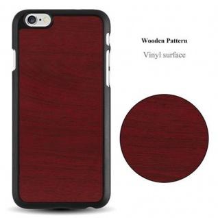 Cadorabo Hülle für Apple iPhone 6 / iPhone 6S in WOODY ROT ? Hardcase Handyhülle aus Plastik gegen Kratzer und Stöße ? Schutzhülle Bumper Ultra Slim Back Case Hard Cover - Vorschau 2