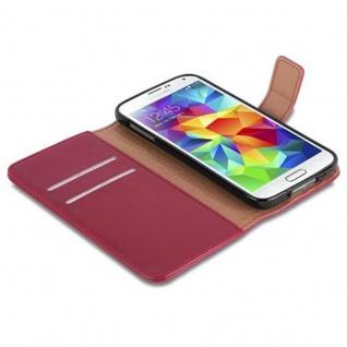 Cadorabo Hülle für Samsung Galaxy S5 / S5 NEO in WEIN ROT ? Handyhülle mit Magnetverschluss, Standfunktion und Kartenfach ? Case Cover Schutzhülle Etui Tasche Book Klapp Style - Vorschau 4