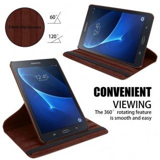 """Cadorabo Tablet Hülle für Samsung Galaxy Tab A 2016 (7, 0"""" Zoll) SM-T280N in PILZ BRAUN Book Style Schutzhülle OHNE Auto Wake Up mit Standfunktion und Gummiband Verschluss - Vorschau 5"""