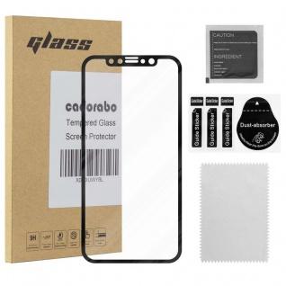 Cadorabo Vollbild Panzer Folie für Apple iPhone XS MAX - Schutzfolie in TRANSPARENT mit SCHWARZ - Gehärtetes (Tempered) Display-Schutzglas in 9H Härte mit 3D Touch Kompatibilität