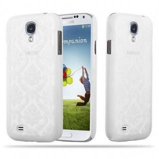 Samsung Galaxy S4 Hardcase Hülle in WEIß von Cadorabo - Blumen Paisley Henna Design Schutzhülle ? Handyhülle Bumper Back Case Cover