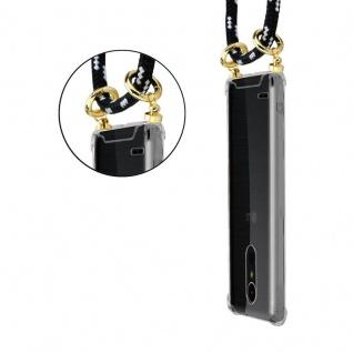 Cadorabo Handy Kette für LG K10 2017 in SCHWARZ SILBER ? Silikon Necklace Umhänge Hülle mit Gold Ringen, Kordel Band Schnur und abnehmbarem Etui ? Schutzhülle - Vorschau 2