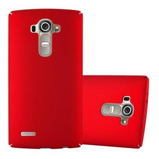 Cadorabo Hülle für LG G4 / G4 PLUS in METALL ROT - Hardcase Handyhülle aus Plastik gegen Kratzer und Stöße - Schutzhülle Bumper Ultra Slim Back Case Hard Cover