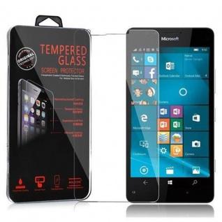 Cadorabo Panzer Folie für Nokia Lumia 950 - Schutzfolie in KRISTALL KLAR - Gehärtetes (Tempered) Display-Schutzglas in 9H Härte mit 3D Touch Kompatibilität