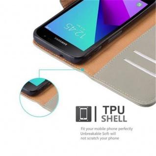 Cadorabo Hülle für Samsung Galaxy Xcover 4 in CAPPUCCINO BRAUN ? Handyhülle mit Magnetverschluss, Standfunktion und Kartenfach ? Case Cover Schutzhülle Etui Tasche Book Klapp Style - Vorschau 3