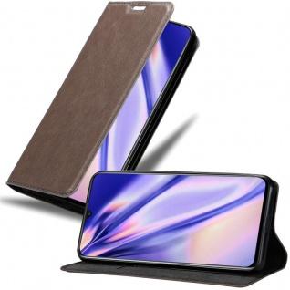 Cadorabo Hülle für MEIZU NOTE 9 in KAFFEE BRAUN - Handyhülle mit Magnetverschluss, Standfunktion und Kartenfach - Case Cover Schutzhülle Etui Tasche Book Klapp Style