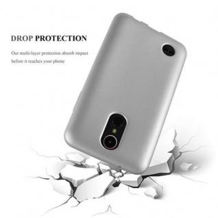Cadorabo Hülle für LG K10 2017 in METALLIC SILBER - Handyhülle aus flexiblem TPU Silikon - Silikonhülle Schutzhülle Ultra Slim Soft Back Cover Case Bumper - Vorschau 3