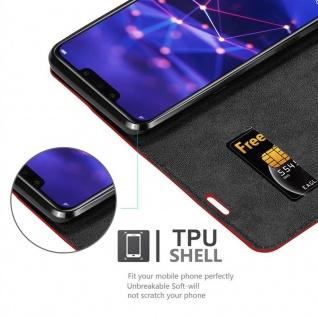 Cadorabo Hülle für Huawei MATE 20 LITE in APFEL ROT - Handyhülle mit Magnetverschluss, Standfunktion und Kartenfach - Case Cover Schutzhülle Etui Tasche Book Klapp Style - Vorschau 2