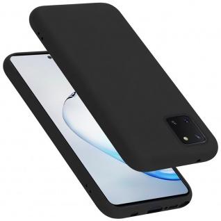 Cadorabo Hülle für Samsung Galaxy A81 / NOTE 10 LITE / M60S in LIQUID SCHWARZ Handyhülle aus flexiblem TPU Silikon Silikonhülle Schutzhülle Ultra Slim Soft Back Cover Case Bumper