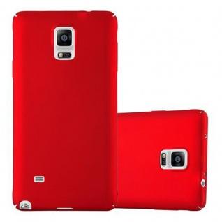 Cadorabo Hülle für Samsung Galaxy NOTE 4 in METALL ROT - Hardcase Handyhülle aus Plastik gegen Kratzer und Stöße - Schutzhülle Bumper Ultra Slim Back Case Hard Cover