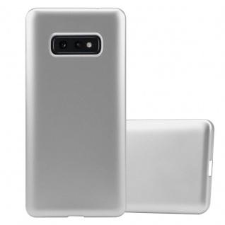 Cadorabo Hülle für Samsung Galaxy S10e in METALLIC SILBER - Handyhülle aus flexiblem TPU Silikon - Silikonhülle Schutzhülle Ultra Slim Soft Back Cover Case Bumper