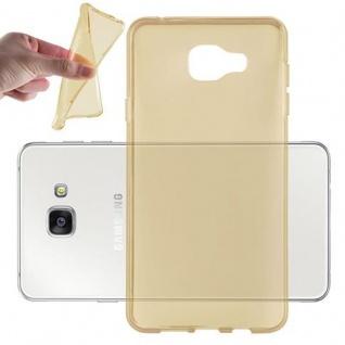 Cadorabo Hülle für Samsung Galaxy A7 2016 (6) - Hülle in TRANSPARENT GOLD ? Handyhülle aus TPU Silikon im Ultra Slim 'AIR' Design - Ultra Slim Soft Backcover Case Bumper