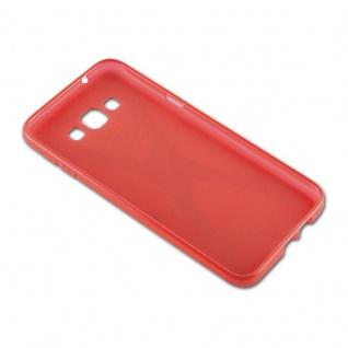 Cadorabo Hülle für Samsung Galaxy A8 2015 in INFERNO ROT - Handyhülle aus flexiblem TPU Silikon - Silikonhülle Schutzhülle Ultra Slim Soft Back Cover Case Bumper - Vorschau 3