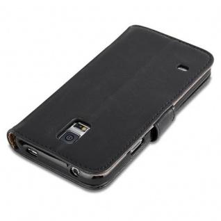 Cadorabo Hülle für Samsung Galaxy S5 / S5 NEO in GRAPHIT SCHWARZ ? Handyhülle mit Magnetverschluss, Standfunktion und Kartenfach ? Case Cover Schutzhülle Etui Tasche Book Klapp Style - Vorschau 3