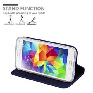 Cadorabo Hülle für Samsung Galaxy S5 MINI / S5 MINI DUOS in CLASSY DUNKEL BLAU - Handyhülle mit Magnetverschluss, Standfunktion und Kartenfach - Case Cover Schutzhülle Etui Tasche Book Klapp Style - Vorschau 4