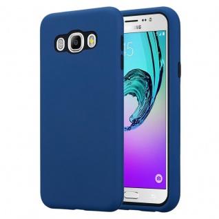 Cadorabo Hülle für Samsung Galaxy J7 2016 in DUNKEL BLAU ? Hybrid Handyhülle mit TPU Silikon Innenseite und 2teiliger Kunststoff Außenseite ? Schutzhülle Hybrid Hardcase Back Case