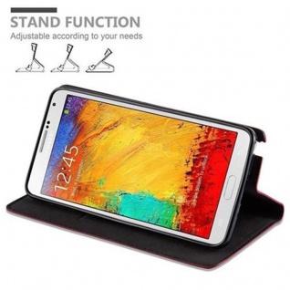 Cadorabo Hülle für Samsung Galaxy NOTE 3 in APFEL ROT - Handyhülle mit Magnetverschluss, Standfunktion und Kartenfach - Case Cover Schutzhülle Etui Tasche Book Klapp Style - Vorschau 5