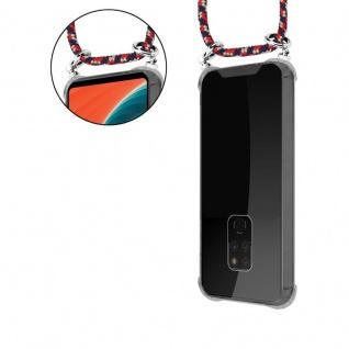 Cadorabo Handy Kette für Huawei MATE 20 in ROT BLAU GELB - Silikon Necklace Umhänge Hülle mit Silber Ringen, Kordel Band Schnur und abnehmbarem Etui - Schutzhülle - Vorschau 5