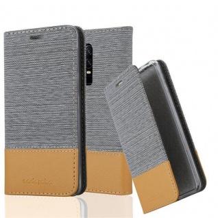 Cadorabo Hülle für OnePlus 6 in HELL GRAU BRAUN Handyhülle mit Magnetverschluss, Standfunktion und Kartenfach Case Cover Schutzhülle Etui Tasche Book Klapp Style