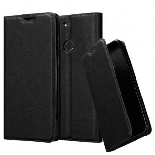 Cadorabo Hülle für ZTE Nubia N3 in NACHT SCHWARZ - Handyhülle mit Magnetverschluss, Standfunktion und Kartenfach - Case Cover Schutzhülle Etui Tasche Book Klapp Style