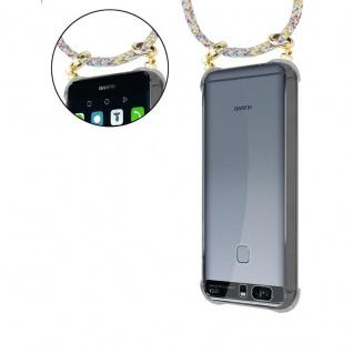 Cadorabo Handy Kette für Huawei P9 PLUS in RAINBOW - Silikon Necklace Umhänge Hülle mit Gold Ringen, Kordel Band Schnur und abnehmbarem Etui ? Schutzhülle - Vorschau 5