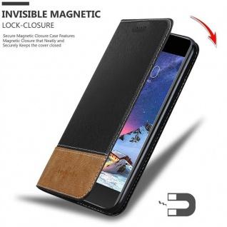 Cadorabo Hülle für LG K8 2017 in SCHWARZ BRAUN ? Handyhülle mit Magnetverschluss, Standfunktion und Kartenfach ? Case Cover Schutzhülle Etui Tasche Book Klapp Style - Vorschau 2